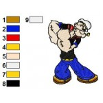 Popeye 03 Embroidery Design