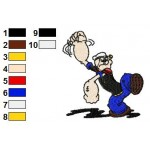 Popeye 05 Embroidery Design