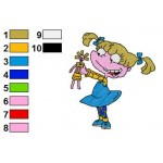 Rugrats Angelica Pickles 01 Embroidery Design