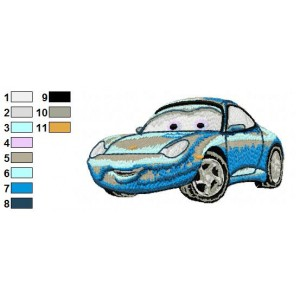 Sally Disney Cars Embroidery Design