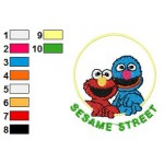 Sesame Street 11 Embroidery Design