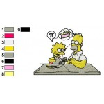 The Simpsons 01 Embroidery Design