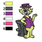 Top Cat 03 Embroidery Design