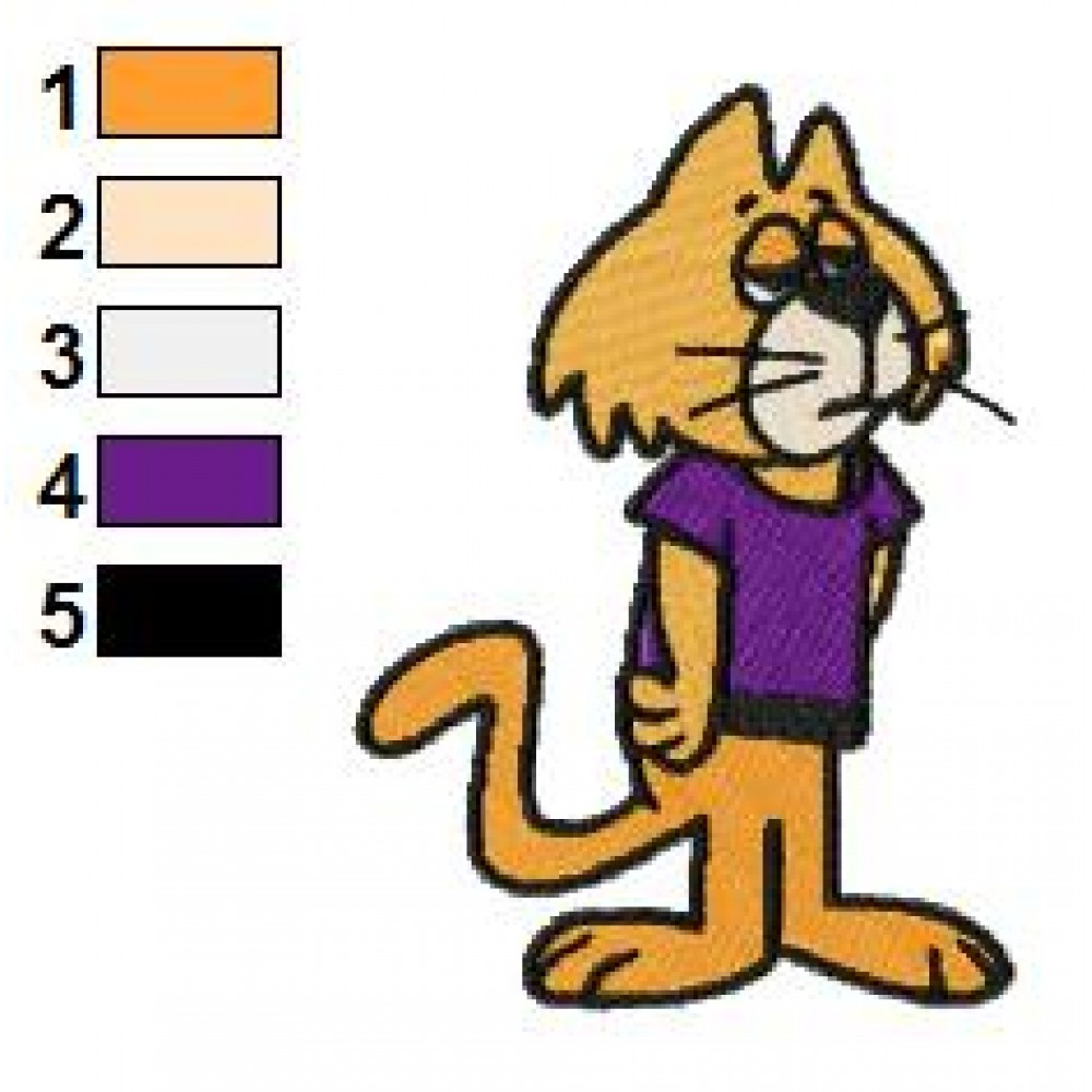 Top Cat The Brain 01 Embroidery Design