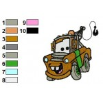Tow Mater Disney Cars Embroidery Design